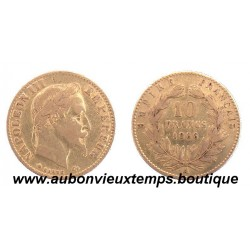 10 FRANCS OR NAPOLEON III  1866 A  EMPEREUR