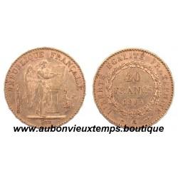 20 FRANCS OR GENIE 1895 A