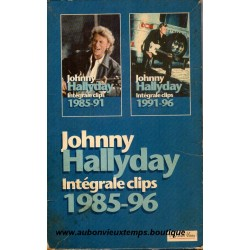 DOUBLE VHS JOHNNY HALLYDAY INTEGRALE CLIPS POLYGRAM 34 TITRES