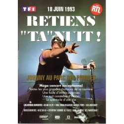 FLYERS PUBLICITAIRE PHILIPS - RETIENS TA NUIT - JOHNNY HALLYDAY  1993