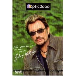CARTE POSTALE  JOHNNY HALLYDAY  - OPTIC 2000