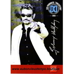 DEPLIANT PUBLICITAIRE - SFR - LES PRODUITS COLLECTOR - JOHNNY HALLYDAY  2003