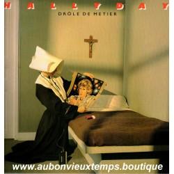VINYL 33T  JOHNNY HALLYDAY  PHILIPS 1984 DROLE DE METIER  12 TITRES
