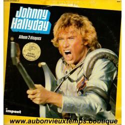 VINYL 2 x 33T  JOHNNY HALLYDAY  IMPACT   1980  24 TITRES