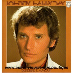 VINYL 33T  JOHNNY HALLYDAY  PHILIPS 1976 DERRIERE L'AMOUR  11 TITRES