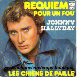 45T REQUIEM POUR UN FOU - PHILIPS 6042 122 - FEVRIER 1976 - JOHNNY HALLYDAY