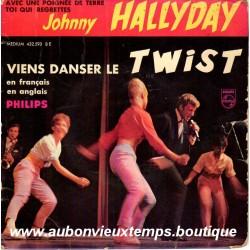 45T  VIENS DANSER LE TWIST -  PHILIPS 432 593 - SEPTEMBRE 1961 - JOHNNY HALLYDAY