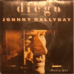 45T DIEGO - PHILIPS 878 7087 -  MARS 1991 - JOHNNY HALLYDAY