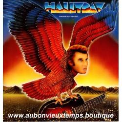 VINYL 33T JOHNNY HALLYDAY PHILIPS 1982 QUELQUE PART UN AIGLE 9 TITRES