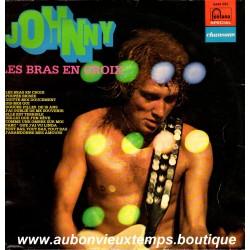 VINYL 33T  JOHNNY HALLYDAY  FONTANA  1972  - LES BRAS EN CROIX -  12 TITRES