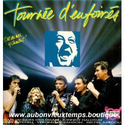 VINYL 33T  JOHNNY HALLYDAY  POLYGRAM 1989 - TOURNEE D'ENFOIRES  - 8 TITRES