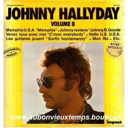 VINYL 33T JOHNNY HALLYDAY IMPACT N°8 1980 12 TITRES