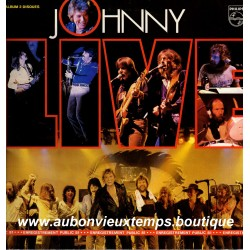 VINYL 2 x 33T  JOHNNY HALLYDAY  PHILIPS 1981 LIVE ENREGISTREMENT PUBLIC  19 TITRES