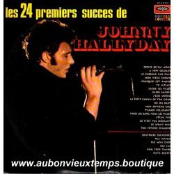VINYL 2 x 33T  JOHNNY HALLYDAY  VOGUE 1971 - LES 24 PREMIERS SUCCES - 24 TITRES