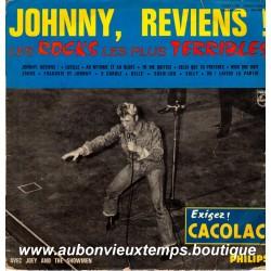 VINYL 33T  JOHNNY HALLYDAY  PHILIPS JUIN 1964 - JOHNNY REVIENS  - 12 TITRES