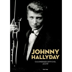 CALENDRIER OFFICIEL JOHNNY HALLYDAY RELIE   2019