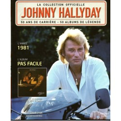 LA COLLECTION OFFICIELLE  JOHNNY HALLYDAY VOL. 41  PAS FACILE  1981