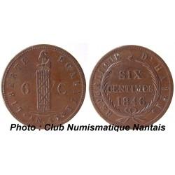 6 CENTIMES 1846  AN 43 - HAITI