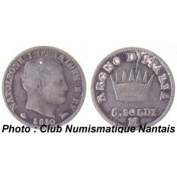 5 SOLDI 1810 M - NAPOLEON ITALIE ARGENT