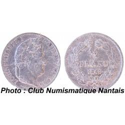 1/2 FRANC 1845 A - LOUIS PHILIPPE 1 ARGENT