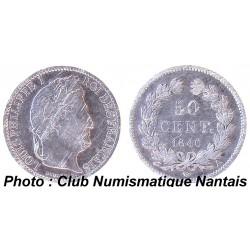 50 CENTIMES 1846 A - LOUIS PHILIPPE 1 ARGENT