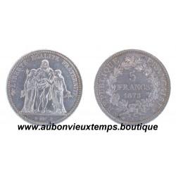 5 FRANCS HERCULE 1873 A