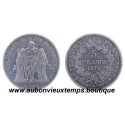 5 FRANCS HERCULE 1872 A
