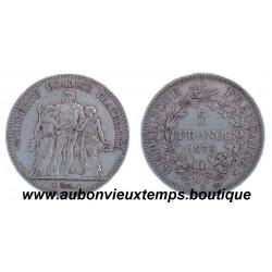 5 FRANCS HERCULE 1876 K