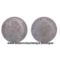 5 FRANCS NAPOLEON III  1867 A