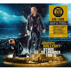 CD x 2 + DVD x 2   JOHNNY HALLYDAY - JOHNNY ALLUME LE FEU  1998
