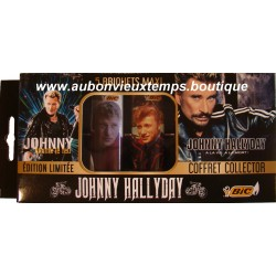 COFFRET COLLECTOR EDITION LIMITEE  JOHNNY HALLYDAY - JOHNNY ALLUME LE FEU  - 5 BRIQUETS