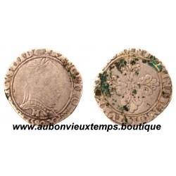 1/2 FRANC AU COL PLAT HENRI  III  1590  M  TOULOUSE