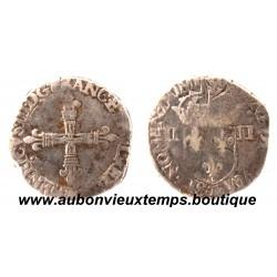 1/4 ECU CROIX DE FACE  HENRI  III      T  NANTES
