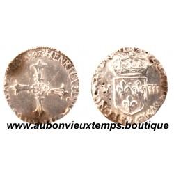 1/8 ECU CROIX DE FACE  HENRI  IV 1592  9  RENNES  2ème TYPE