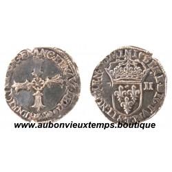 1/4 ECU CROIX DE FACE  HENRI  IV 1603 T  NANTES