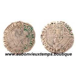 DOUBLE BRIQUET  CHARLES QUINT 1675  ANVERS -  BRABANT