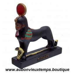 STATUETTE DIEU EGYPTIEN TITHOUES PLASTOY