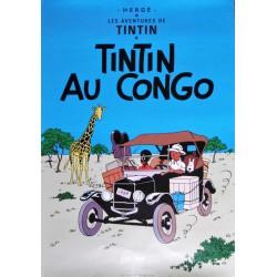 POSTER-AFFICHE 50x70cm TINTIN au CONGO