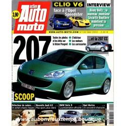 ACTION AUTO MOTO MAI 2003 -  RENAULT CLIO V6 - PEUGEOT 207