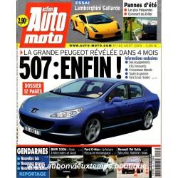 ACTION AUTO MOTO AOUT 2003 -  PEUGEOT 507 - LAMBORGHINI GALLARDO