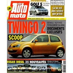 ACTION AUTO MOTO SEPTEMBRE 2003 -  RENAULT TWINGO 2 - VOLKSWAGEN GOLF 5