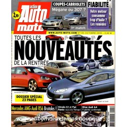 ACTION AUTO MOTO OCTOBRE 2003 -  RENAULT  MEGANE - PEUGEOT 307 - ALFA ROMEO 8C - BMW X3