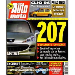 ACTION AUTO MOTO MARS 2004 -  PEUGEOT 207 - RENAULT CLIO RS