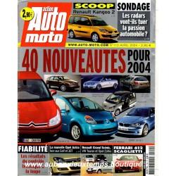 ACTION AUTO MOTO AVRIL 2004 -  RENAULT KANGOO 2 - ALFA ROMEO CROSSWAGEN - CITROEN C4