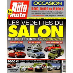 ACTION AUTO MOTO JUILLET 2004 -  SALON AUTO - CITROEN C4 - FORD FOCUS - BMW 1 - AUDI A3