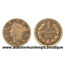 1/4 DOLLAR US SMALL CALIFORNIA GOLD  1855