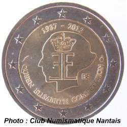 2 EUROS COMMEMORATIF 2012 - BELGIQUE  REINE ELIZABETH