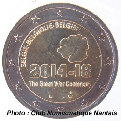 2 EUROS COMMEMORATIF 2014 - BELGIQUE 2014 2018