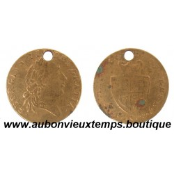 JETON GEORGES III  1701  GUINEE D'OR