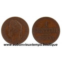 MONNAIE ESSAI 1 CENTIME  LOUIS PHILIPPE de BARRE  ND 1840
